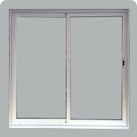 Balcony doors and windows with 1 or 2 sheets and sliding made of aluminum