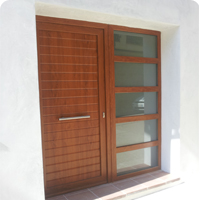 Windows and balcony doors in sliding type or with sheets in PVC