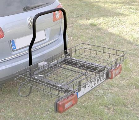 Remolque con cesta para transportar todo tipo de bultos for Coche con silla de auto