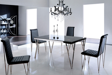 Mobiliario for Mesa comedor cristal negro