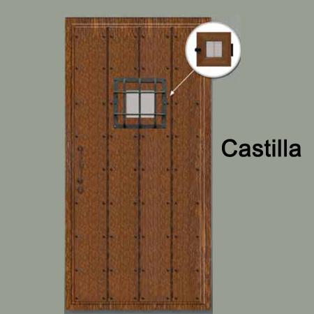 Puerta de calle de estilo r stico fabricada en aluminio - Puertas de madera decoradas ...