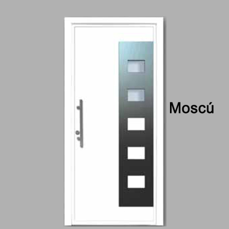 Puertas de calle de aluminio para viviendas modernas - Modelos de puertas de aluminio ...