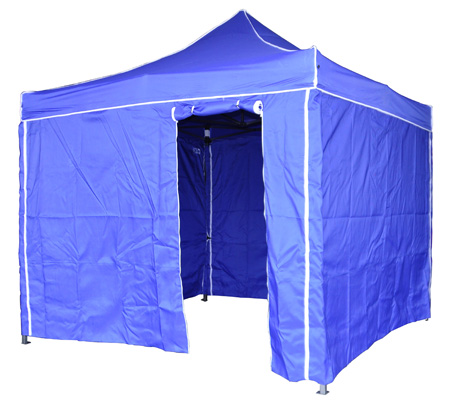 Carpa plegable en color azul.