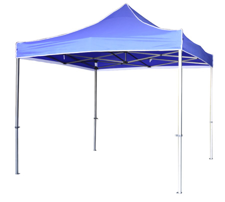 Carpa plegable para eventos.