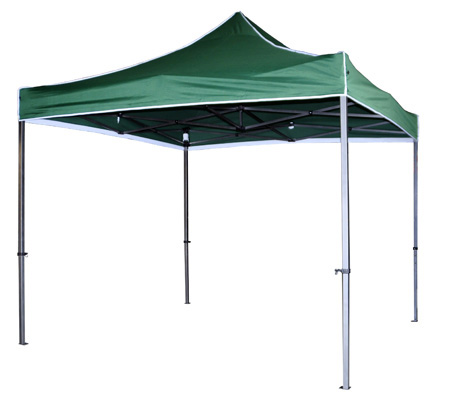 Carpa plegable en color verde.