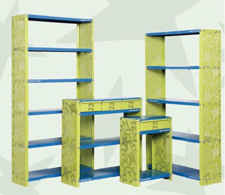 Colecci n de muebles originales y divertidos para - Estanteria pared infantil ...