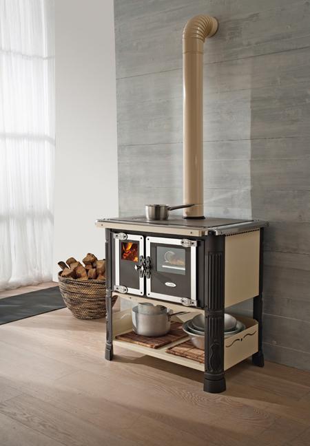Cocina de le a con horno de 8 6 kw ecotilde met mann - Cocinas con horno de lena ...