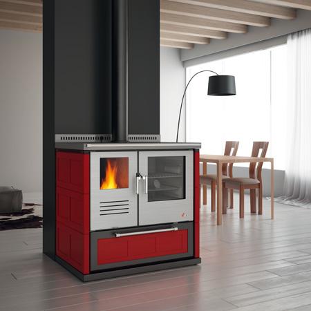 Cocina econ mica de estilo moderno con horno de 9 7 kw for Cocina economica a lena