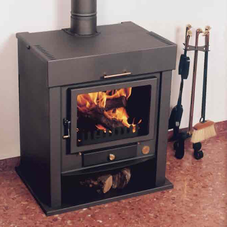 Estufas con horno for Chimeneas de lena para calefaccion