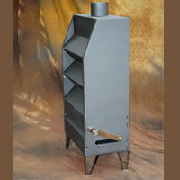 Wall-mounted wood stoves model Sierra