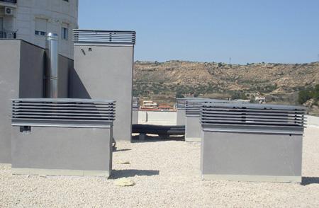 Chimenea de ventilacin fabricada en hierro