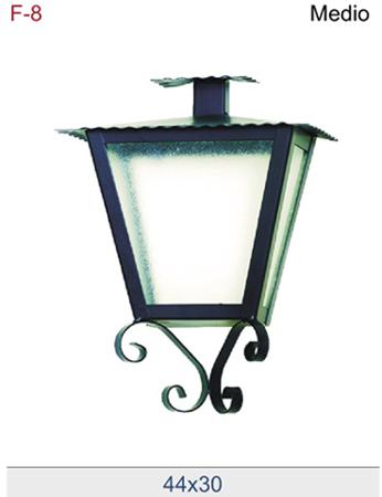 Farol de forja sencillo para colocar en pared for Faroles de iluminacion exterior