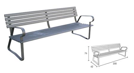 Banco fabricado en hierro para exterior for Bancos de aluminio para jardin