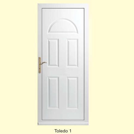 Puerta de entrada fabricada en pvc for Puertas de pvc para exterior