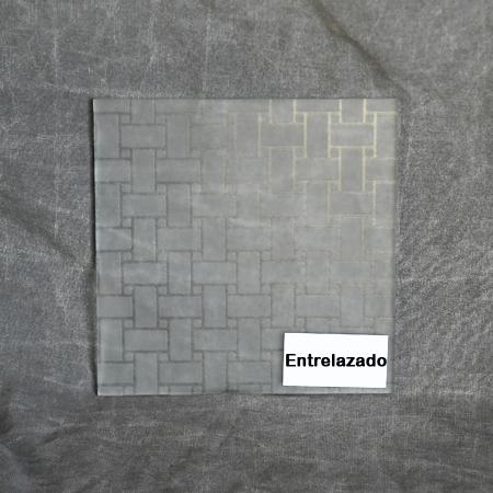 Vidrio con estampado mate para decorar puertas de interior for Vidrios decorados para puertas interiores