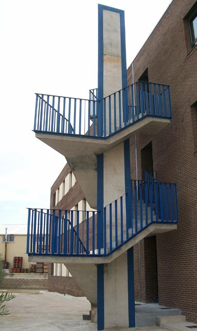 Barandilla de hierro para colocar en escaleras de exterior for Barandilla escalera exterior