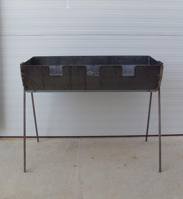 Barbacoa de jard n fabricada en hierro con capacidad para - Barbacoas de hierro para lena ...