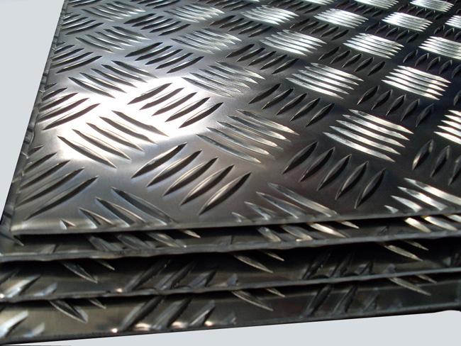 Chapas de aluminio damero con palillos para rampas suelos - Planchas aluminio precio ...
