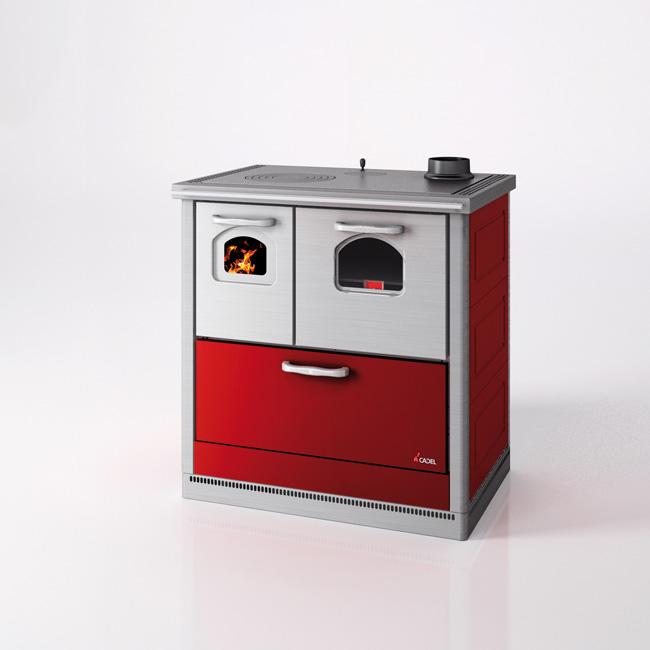Cocina de le a de dise o moderno con horno de 8 6 kw - Cocinas con horno de lena ...