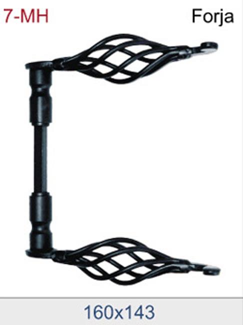 Manilla de forja art stica en acabado negro - Manillas de forja ...