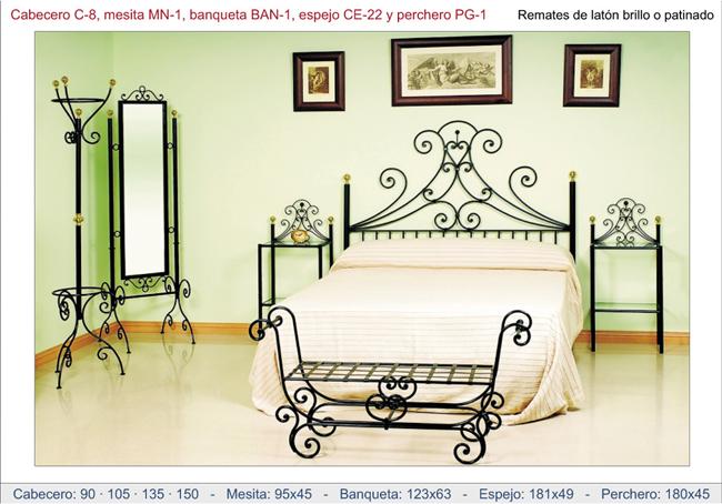 Muebles de forja para dormitorio r stico - Mobiliario de forja ...