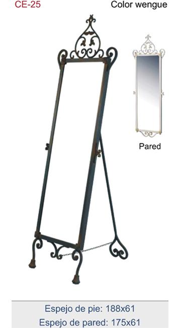 Espejo ornamental de forja para dormitorios vestidores for Espejos grandes de pie
