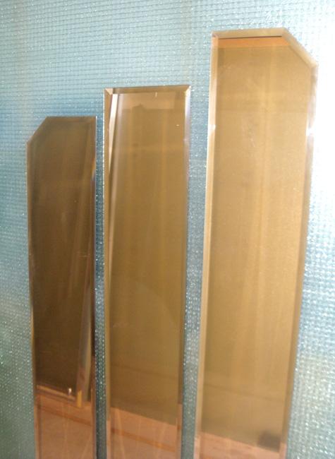 Vidrio con acabado bronce para decorar espacios for Espejo rectangular grande