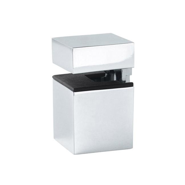 Soporte en acabado cromo o plata para baldas de vidrio o - Soporte para baldas ...