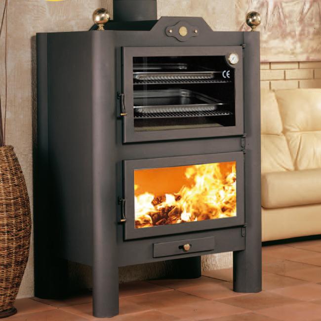 Estufa con horno de gran capacidad para cocinar en varias for Estufa hogar moderna