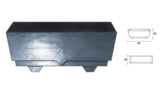 jardinera rectangular resistente para colocar en exterior