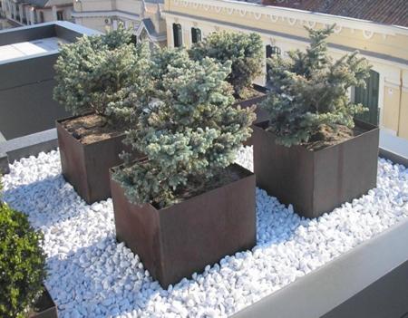 Jardineras de acero cortes decorativas