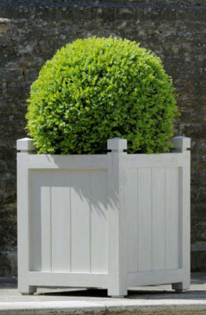 Jardinera de madera ideal para plazas parques o jardines - Jardineras de exterior ...