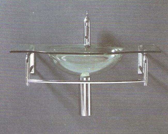 Lavabos Para Baños Cristal:lavabo de diseño lavabo de cristal con soporte de toallero que