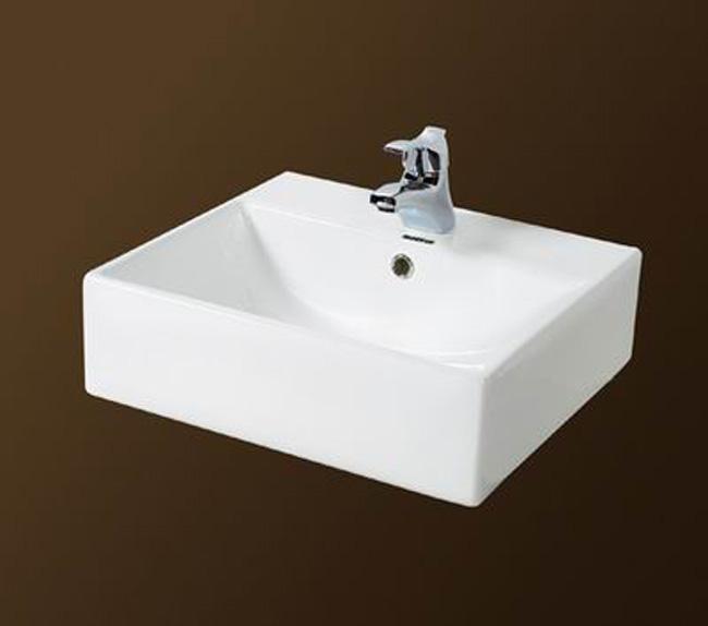 Lavamanos cuadrado sobre encimera de porcelana for Lavabos cuadrados sobre encimera