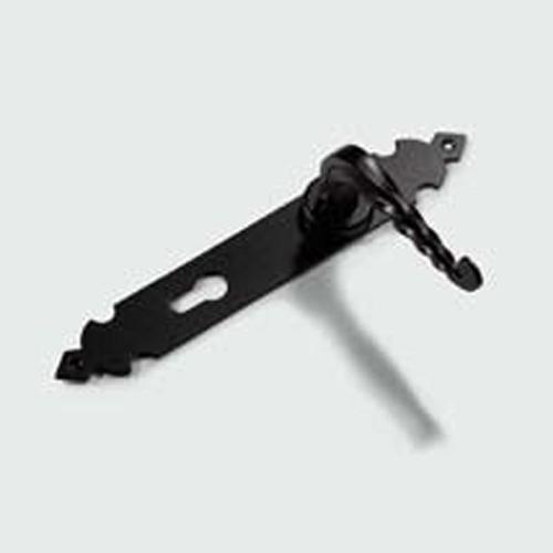 Manilla de forja negra para colocar en puertas - Manillas rusticas para puertas ...