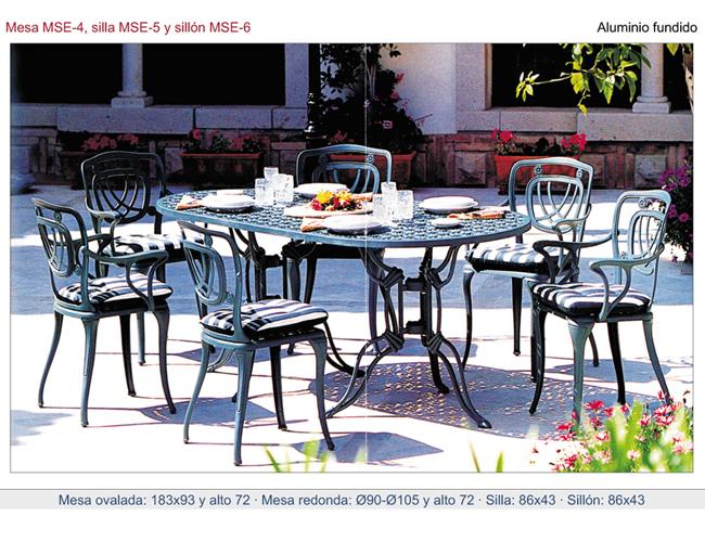 Muebles de exterior de aluminio fundido para jardines - Muebles de aluminio para exterior ...