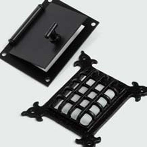 Mirillas de forja en negro con dise os antiguos - Mirillas digitales para puertas ...