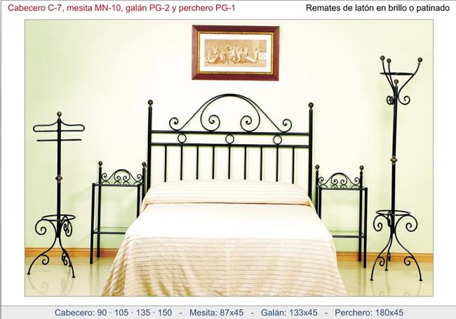 Conjunto para dormitorio realizado en forja - Cabecero de hierro ...