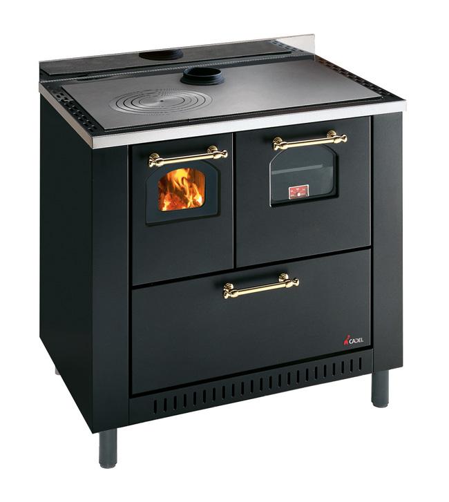 Cocina de le a con horno y ventilador de - Cocina economica lena ...