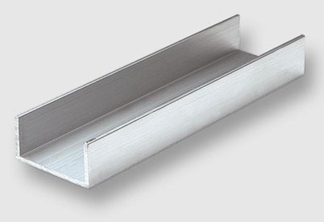 Perfil lateral de vitrina fabricado en aluminio - Perfil de aluminio en u ...