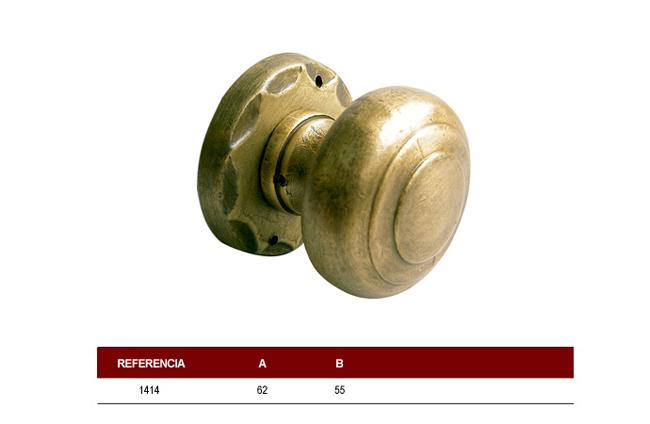 Pomo redondeado fabricado en lat n para puertas - Pomos puertas armarios ...