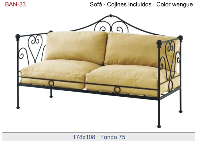 Elegante sofa para jardines con estilo for Sillon dos plazas
