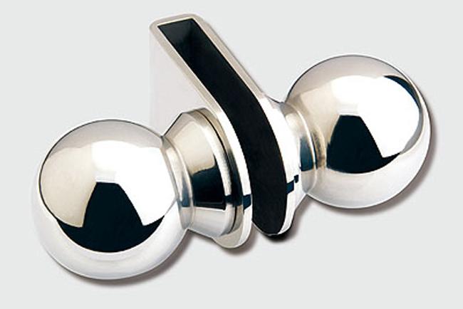 Tirador con doble pomo para puertas y en acabado inoxidable for Espejos para pegar en puertas