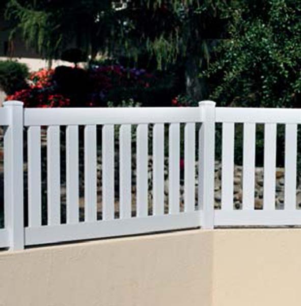 Vallas de exterior para jardines y exterior de viviendas - Vallas jardin pvc ...