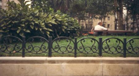 Verja de hierro decorativa para jardines o parques for Vallas decorativas