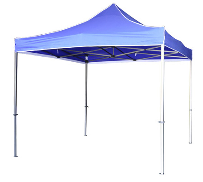 Folding tents available in different colours.