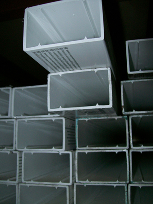 Cut size pvc rectangular tubes